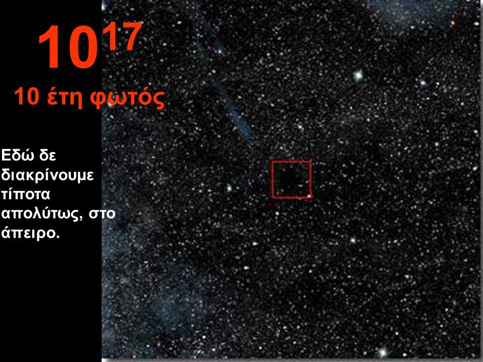 Σε αυτή την απόσταση, ο Ήλιος δεν είναι παρά μία μικρή κουκίδα 10 16 1 έτος φωτός