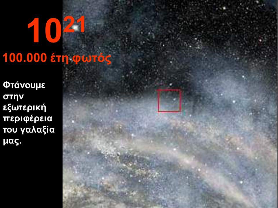 Το ταξίδι στο γαλαξία μας συνεχίζεται. 10 20 10.000 έτη φωτός