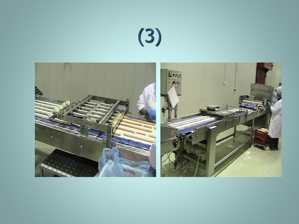 (4) Διπλώνεται το φύλλο και κόβεται, Διπλώνεται το φύλλο και κόβεται, καταψύχεται στους - 18 c, καταψύχεται στους - 18 c, μετριέται κατά ποσότητα από δοσομετρητή, μετριέται κατά ποσότητα από δοσομετρητή, συσκεύαζεται, συσκεύαζεται, επισημαίνεται (ημερομηνία,κωδικός, λήξη…) επισημαίνεται (ημερομηνία,κωδικός, λήξη…) Περνάει από ανιχνευτή μετάλλων Περνάει από ανιχνευτή μετάλλων Αποθηκεύεται στους - 18 c.