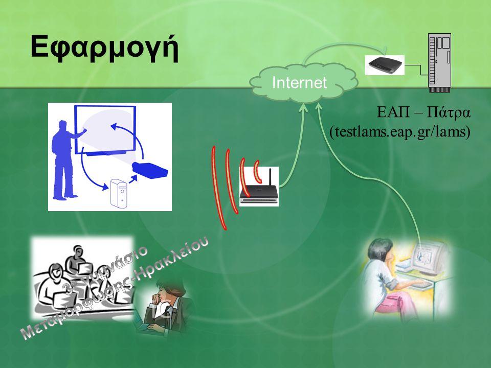 Εφαρμογή Ιnternet ΕΑΠ – Πάτρα (testlams.eap.gr/lams)