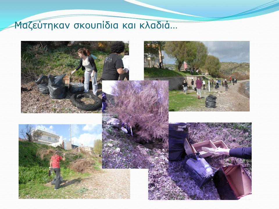 Μαζεύτηκαν σκουπίδια και κλαδιά…
