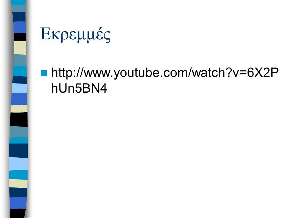 Εκρεμμές http://www.youtube.com/watch?v=6X2P hUn5BN4