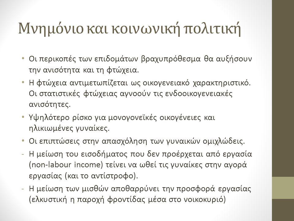 Γυναίκα και κρίση Πως αυτές οι εξελίξεις θα επηρεάσουν τα διαχρονικά προβλήματα: α) χαμηλότερο ποσοστό απασχόλησης σε σχέση με τους άνδρες β) μισθολογικό χάσμα γ) υψηλότερος κίνδυνος φτώχειας ή/και κοινωνικού αποκλεισμού δ) στερεότυπα Θα επιδεινωθούν τα παραπάνω προβλήματα, κι αν ναι, σε ποιο βαθμό ;