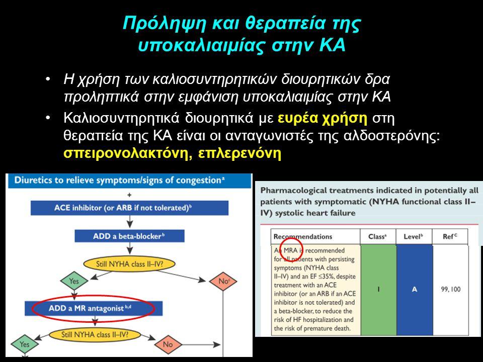 Πρόληψη και θεραπεία της υποκαλιαιμίας στην ΚΑ Η χρήση των καλιοσυντηρητικών διουρητικών δρα προληπτικά στην εμφάνιση υποκαλιαιμίας στην ΚΑ Καλιοσυντη