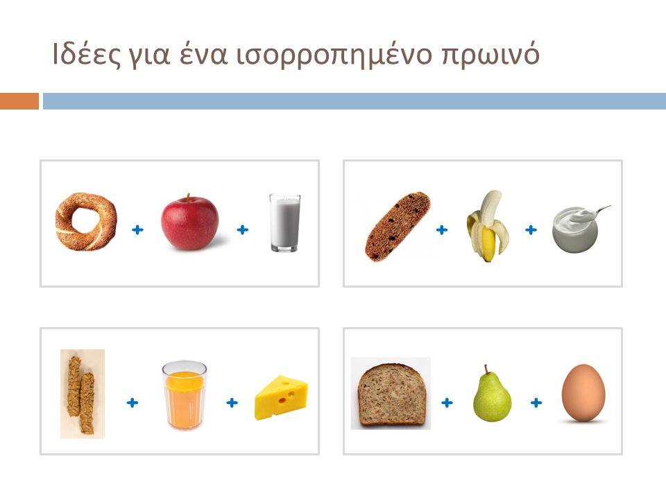 Ιδέες για ένα ισορροπημένο πρωινό ++ ++ + ++ +