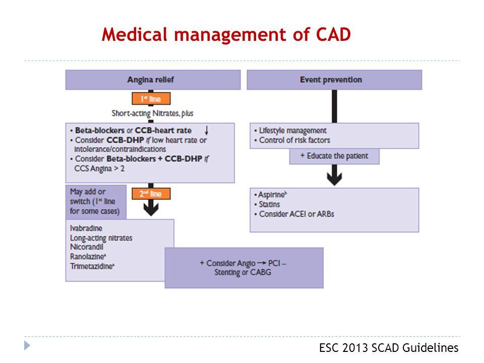 ESC 2013 SCAD Guidelines Medical management of CAD