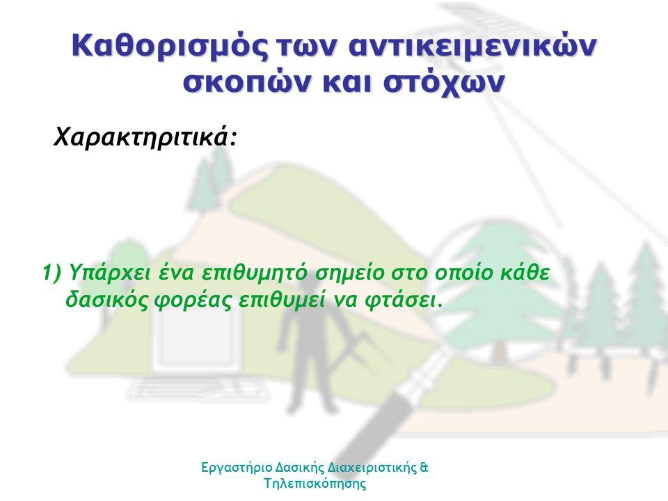 Εργαστήριο Δασικής Διαχειριστικής & Τηλεπισκόπησης ΕΛΑΧΙΣΤΟΠΟΙΗΣΗ