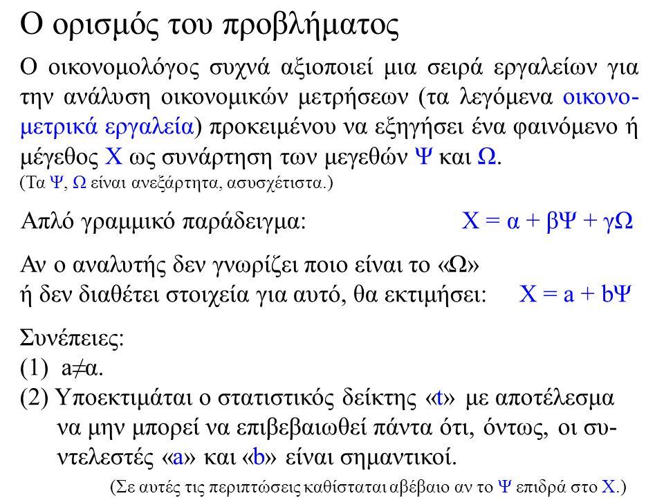 Τίθεται το ερώτημα: Υπάρχει τρόπος, ακόμα και αν δεν έχουμε άλλα στοιχεία, να εκμαιεύσουμε κάποια πληροφορία για την μορφή, διάταξη, σχήμα του (ενδεχομένως αγνώστου) Ω και να εισάγουμε την πληροφορία αυτή στη σχέση Χ = a + bΨ; Η απάντηση είναι: Nαι, μέσω του χώρου.