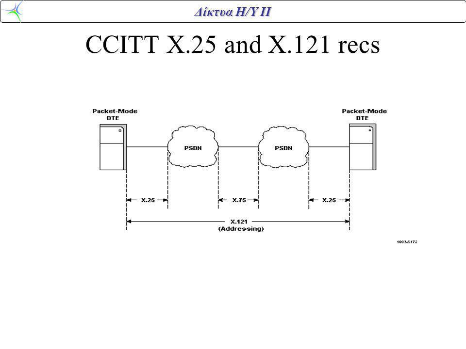 Δίκτυα Η/Υ ΙΙ CCITT X.25 and X.121 recs