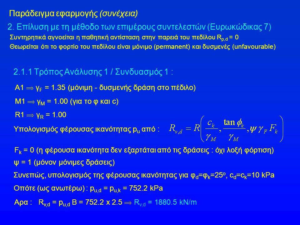 Παράδειγμα εφαρμογής (συνέχεια) 2.