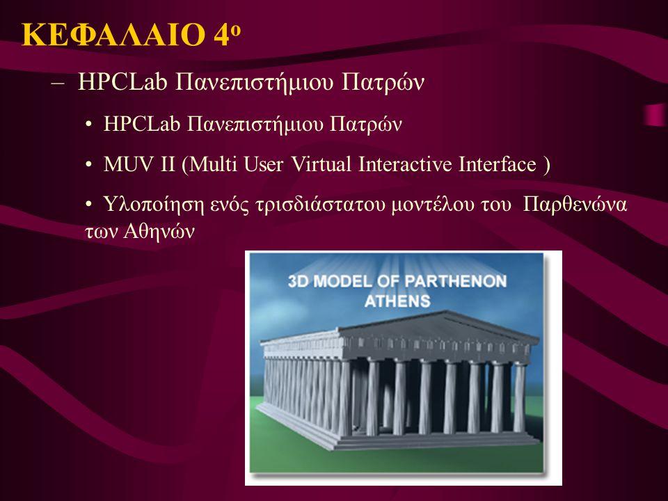 – HPCLab Πανεπιστήμιου Πατρών HPCLab Πανεπιστήμιου Πατρών MUV II (Multi User Virtual Interactive Interface ) Υλοποίηση ενός τρισδιάστατου μοντέλου του