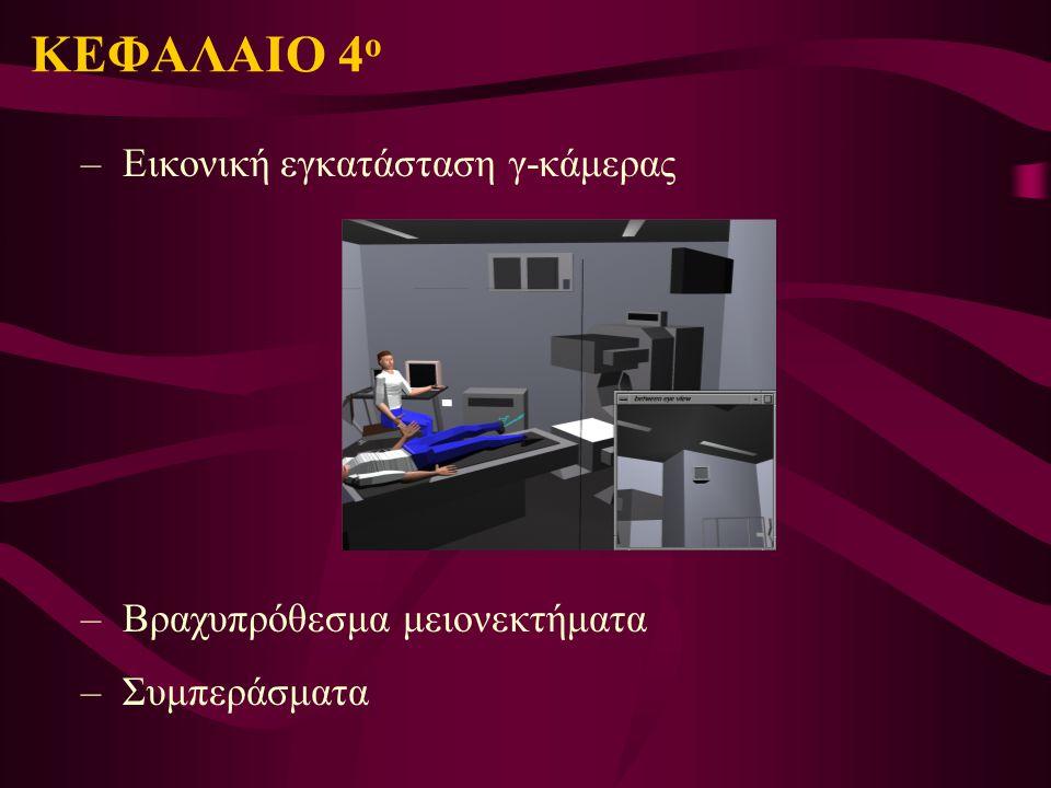 ΚΕΦΑΛΑΙΟ 4 ο – Εικονική εγκατάσταση γ-κάμερας – Βραχυπρόθεσμα μειονεκτήματα – Συμπεράσματα