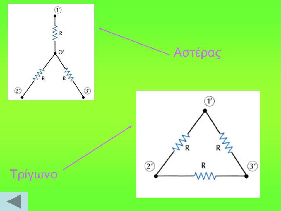  Θεώρημα Kennely Μεταξύ των αντιστάσεων των δύο συνδεσμολογιών υπάρχουν σχέσεις, γνωστές ως τύποι του Kennely, ώστε τα δύο κυκλώματα να είναι ισοδύναμα.