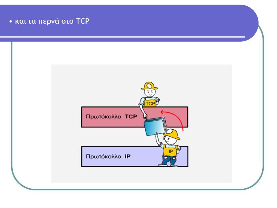 και τα περνά στο TCP