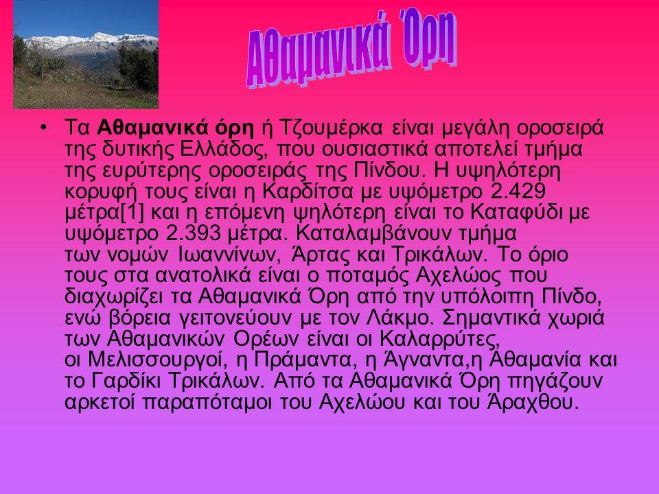 Τα Αθαμανικά όρη ή Τζουμέρκα είναι μεγάλη οροσειρά της δυτικής Ελλάδος, που ουσιαστικά αποτελεί τμήμα της ευρύτερης οροσειράς της Πίνδου. Η υψηλότερη