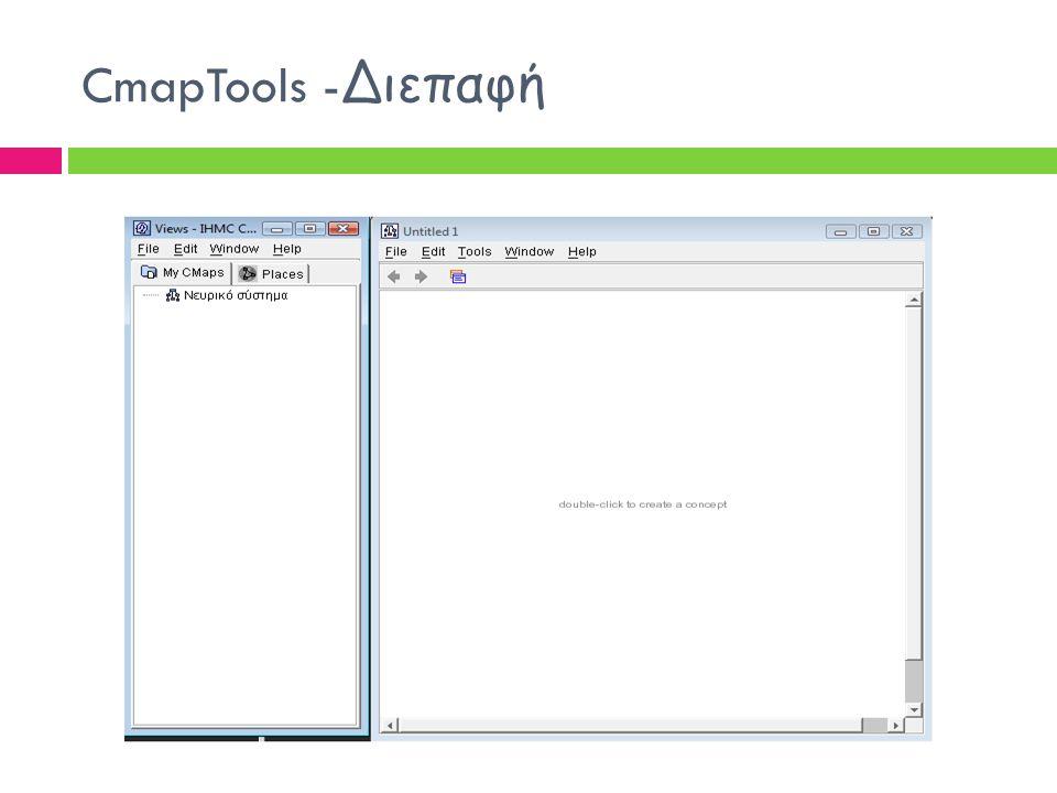 CmapTools - Διεπαφή