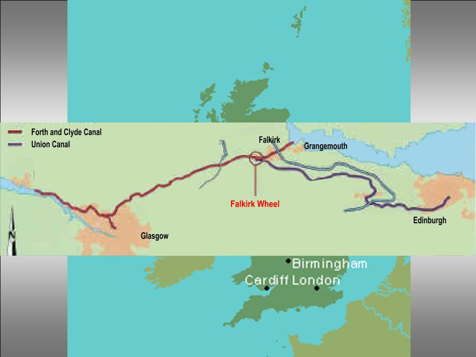 Το κανάλι Forth and Clyde, το οποίο συνδέει την Glasgow με την δυτική ακτή, κατασκευάστηκε το 1777 μεταξύ του λιμανιού Grangemouth και Falkirk.
