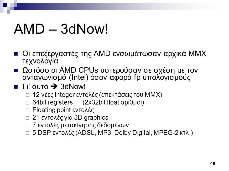 45 AMD – 3dNow.