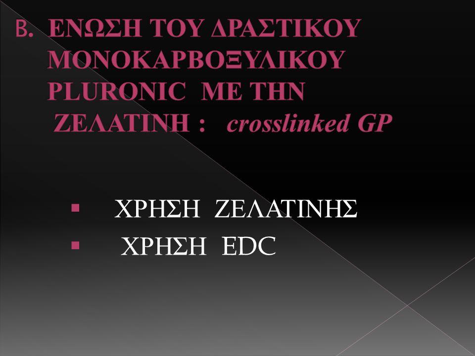  ΧΡΗΣΗ ΖΕΛΑΤΙΝΗΣ  ΧΡΗΣΗ EDC