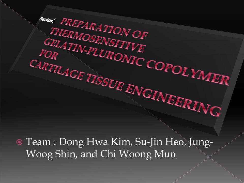  Team : Dong Hwa Kim, Su-Jin Heo, Jung- Woog Shin, and Chi Woong Mun