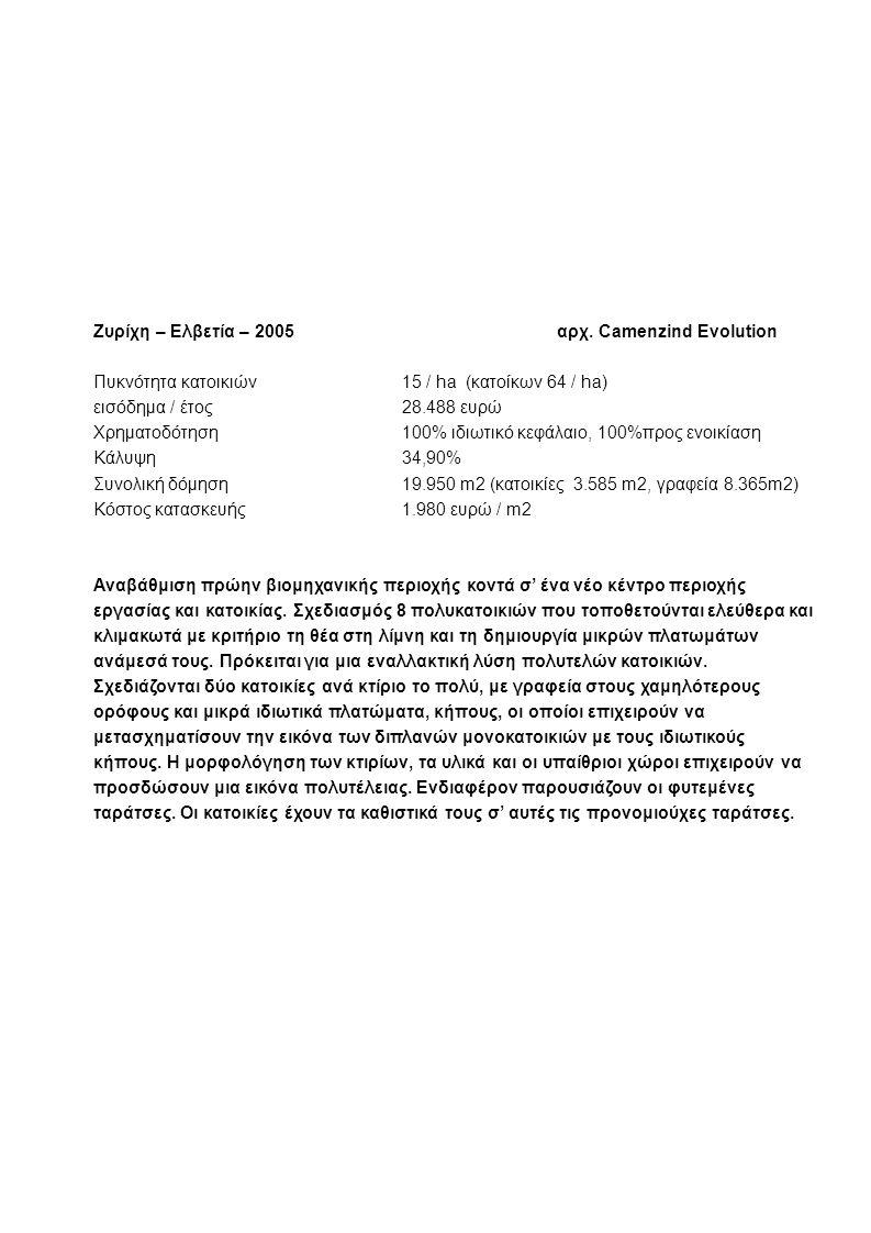Zυρίχη – Eλβετία – 2005 αρχ.