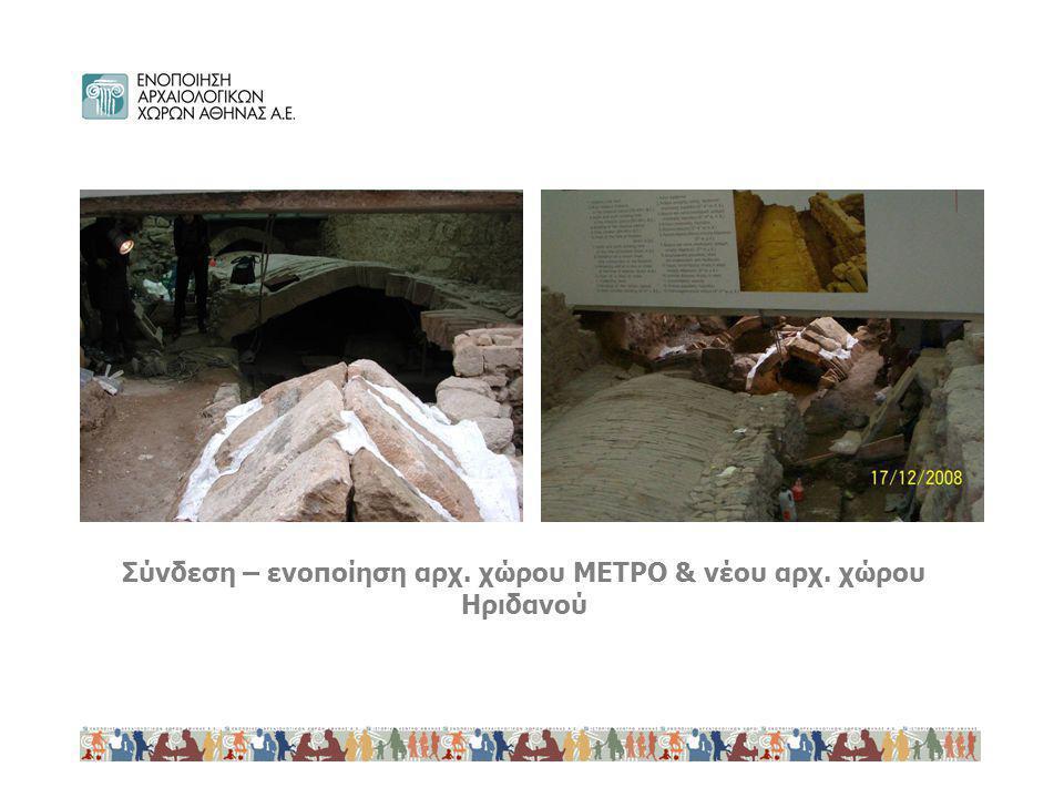 Σύνδεση – ενοποίηση αρχ. χώρου ΜΕΤΡΟ & νέου αρχ. χώρου Ηριδανού