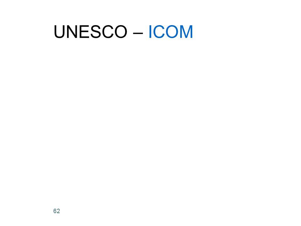 62 UNESCO – ICOM
