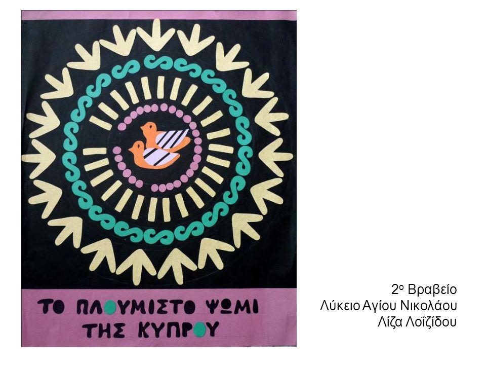 2 ο Βραβείο Λύκειο Αγίου Νικολάου Λίζα Λοΐζίδου