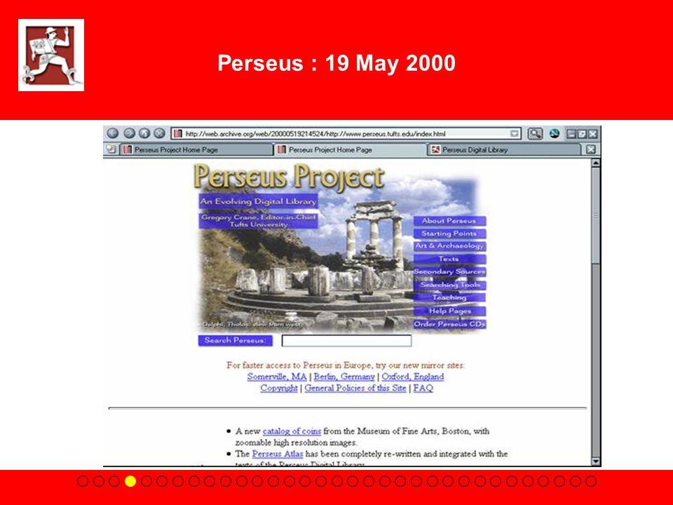 Perseus : 19 May 2000