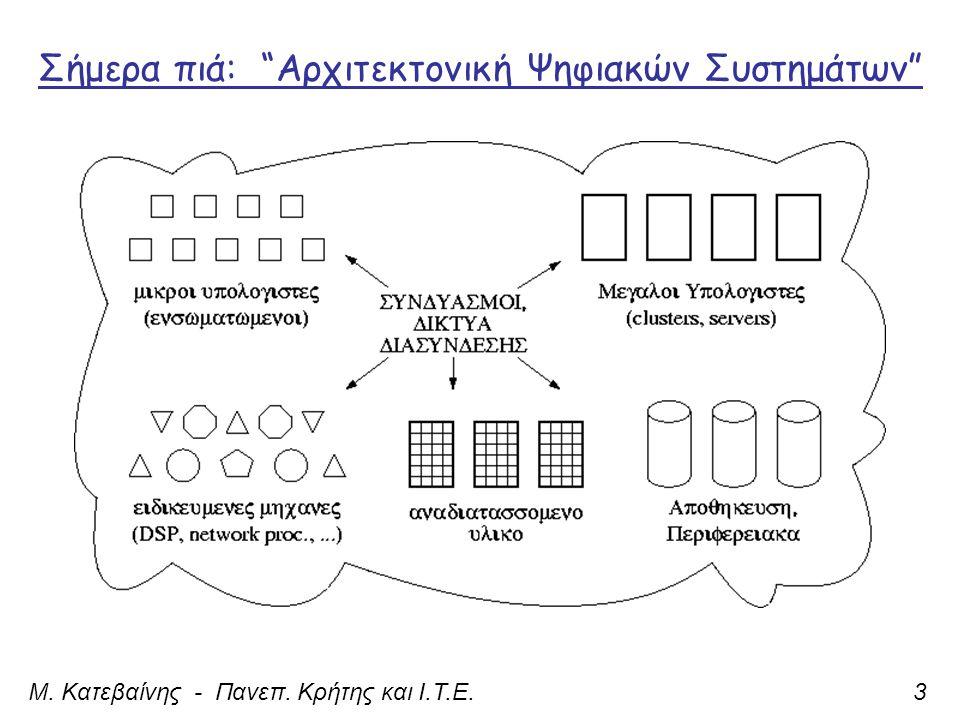 Σήμερα πιά: Αρχιτεκτονική Ψηφιακών Συστημάτων Μ. Κατεβαίνης - Πανεπ. Κρήτης και Ι.Τ.Ε.3