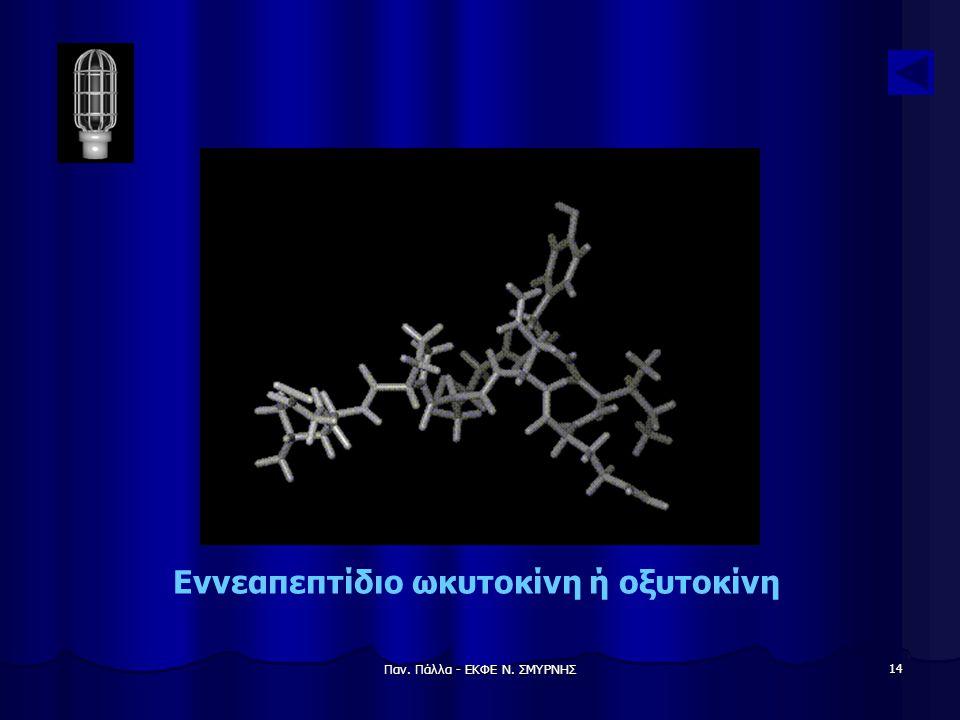 Παν. Πάλλα - ΕΚΦΕ Ν. ΣΜΥΡΝΗΣ 14 Εννεαπεπτίδιο ωκυτοκίνη ή οξυτοκίνη