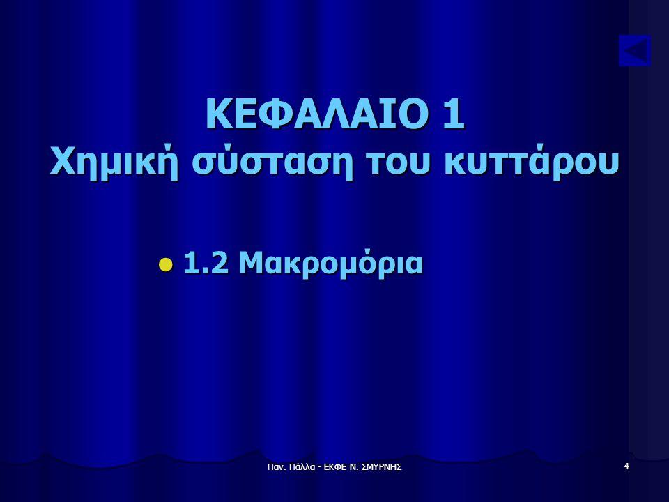 Παν. Πάλλα - ΕΚΦΕ Ν. ΣΜΥΡΝΗΣ 5 1.2 ΜΑΚΡΟΜΟΡΙΑ