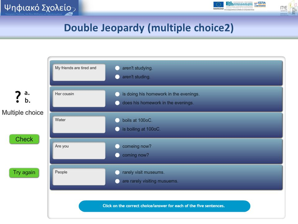 Double Jeopardy (multiple choice2)