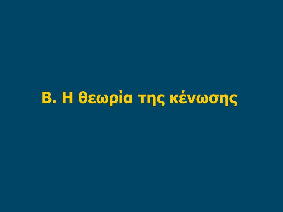 Β. Η θεωρία της κένωσης
