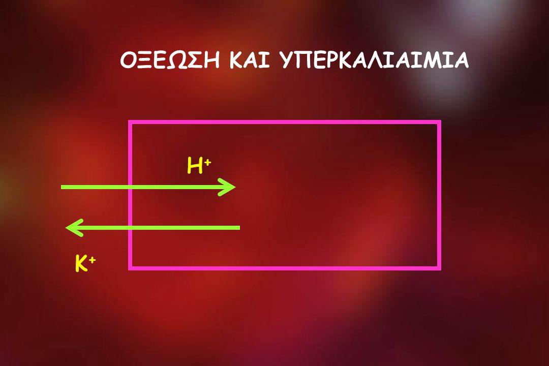 ΟΞΕΩΣΗ ΚΑΙ ΥΠΕΡΚΑΛΙΑΙΜΙΑ Η+Η+ Κ+Κ+