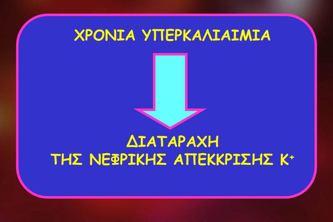 ΧΡΟΝΙΑ ΥΠΕΡΚΑΛΙΑΙΜΙΑ ΔΙΑΤΑΡΑΧΗ ΤΗΣ ΝΕΦΡΙΚΗΣ ΑΠΕΚΚΡΙΣΗΣ Κ +