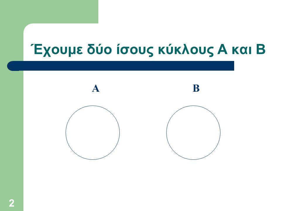 2 Έχουμε δύο ίσους κύκλους Α και Β ΑΒ