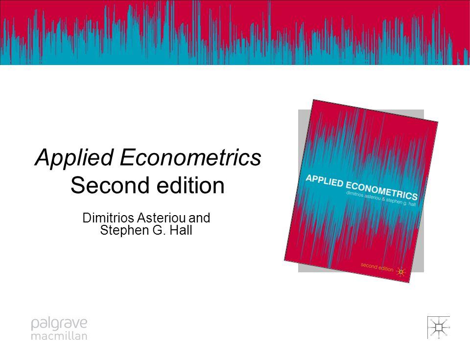 Applied Econometrics Κανονικότητα των καταλοίπων Βήμα 1: Υπολογίζουμε το στατιστικό Jarque- Berra (JB) (δίνεται στο Eviews) Βήμα 2: Βρίσκουμε την κριτική τιμή του Χ- τετράγωνο από τους αντίστοιχους πίνακες.