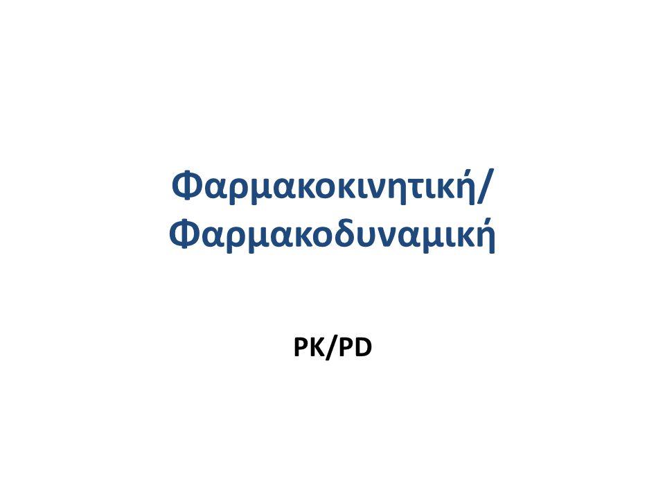 Φαρμακοκινητική/ Φαρμακοδυναμική PK/PD