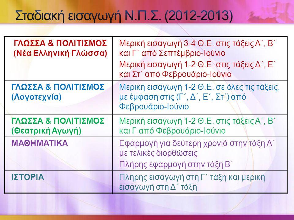 ΓΛΩΣΣΑ & ΠΟΛΙΤΙΣΜΟΣ (Νέα Ελληνική Γλώσσα) Μερική εισαγωγή 3-4 Θ.Ε.