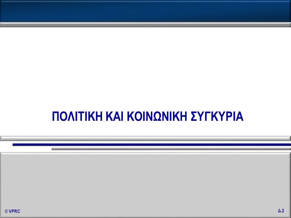 © VPRC Δ.33 «Εργασία & Συνδικάτα στη συγκυρία της οικονομικής κρίσης» Φεβρουάριος 2010 Το ωράριο που εργάζεσθε (εργαζόσασταν) είναι (ήταν) σταθερό, ελαστικό ή ελεύθερο; - 1 (Κατά κλάδο απασχόλησης, %) ΩΡΑΡΙΟ ΕΡΓΑΣΙΑΣ Για τους κλάδους : Γεωργία / Αλιεία / Κτηνοτροφία, Ορυχεία, Λατομεία, Μεταλλεία, Ενέργεια, Ύδρευση & Ιδιωτικά νοικοκυριά που απασχολούν προσωπικό, δεν παρουσιάζονται ποσοστά λόγω μικρής αριθμητικής βάσης.