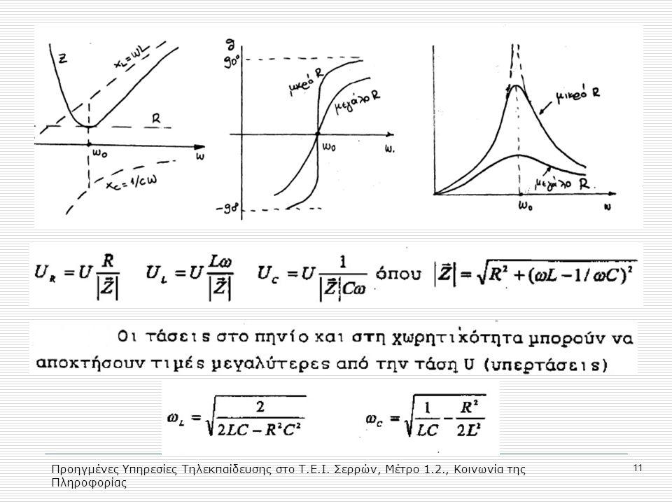 Προηγμένες Υπηρεσίες Τηλεκπαίδευσης στο Τ.Ε.Ι. Σερρών, Μέτρο 1.2., Κοινωνία της Πληροφορίας 11