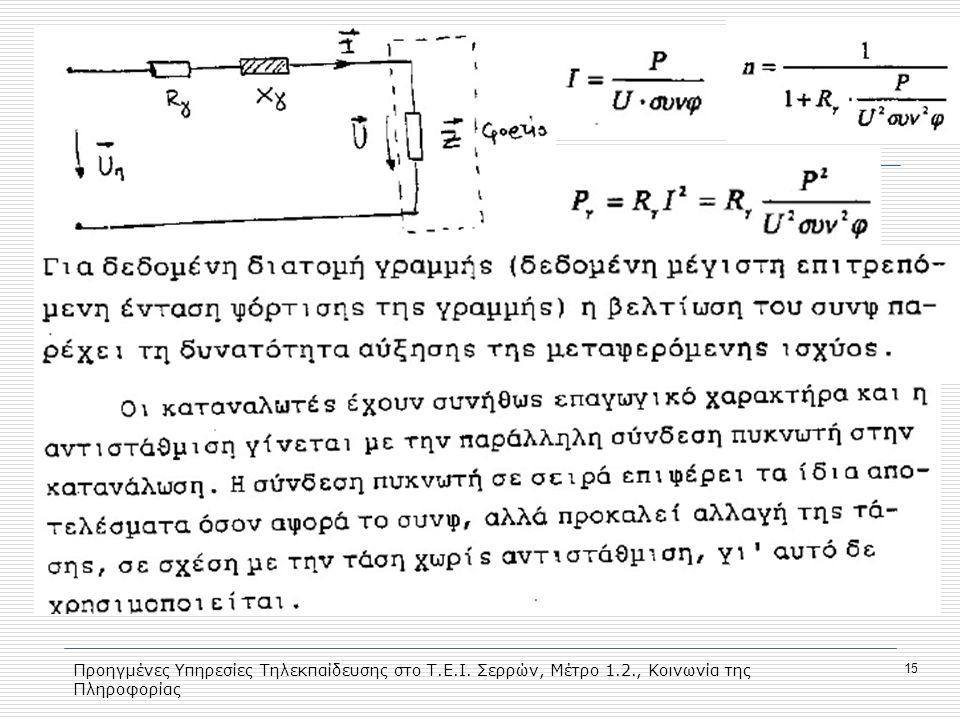Προηγμένες Υπηρεσίες Τηλεκπαίδευσης στο Τ.Ε.Ι. Σερρών, Μέτρο 1.2., Κοινωνία της Πληροφορίας 15
