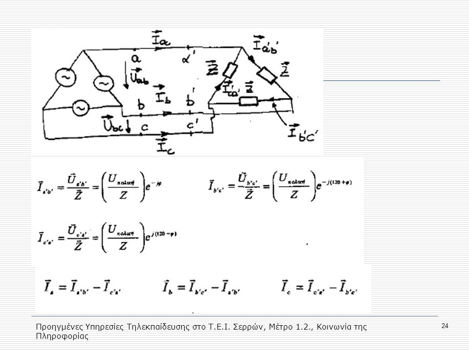 Προηγμένες Υπηρεσίες Τηλεκπαίδευσης στο Τ.Ε.Ι. Σερρών, Μέτρο 1.2., Κοινωνία της Πληροφορίας 24