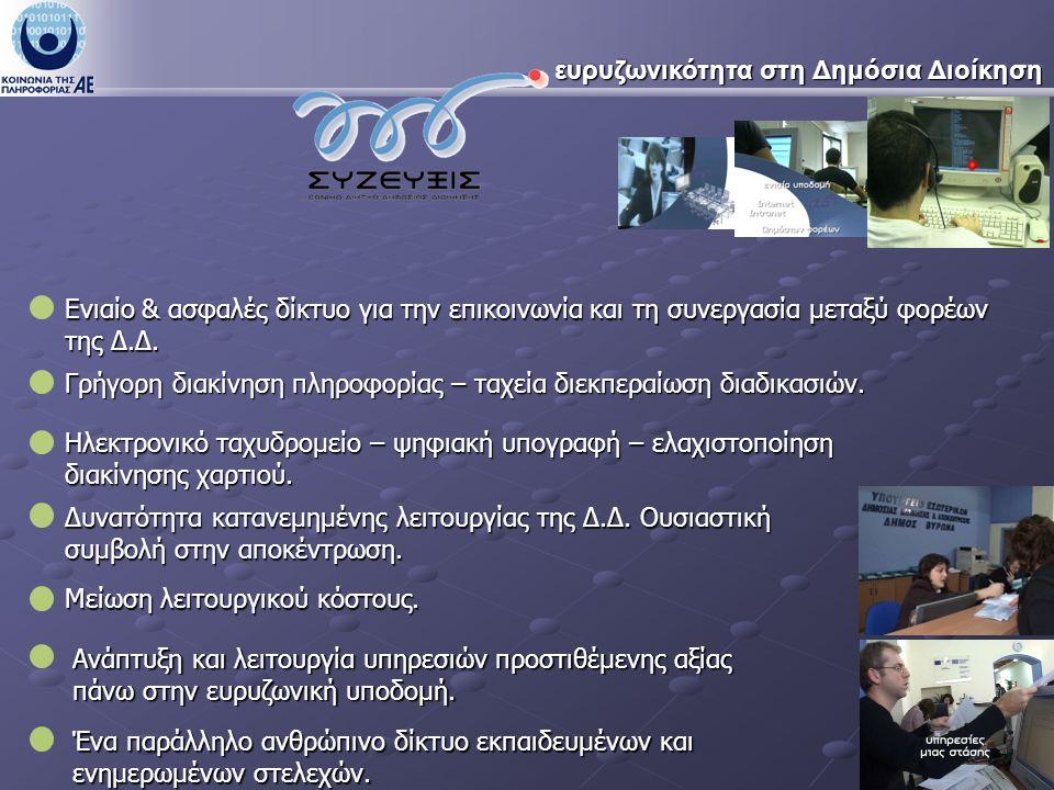 … ευρυζωνικότητα για πολίτες και επιχειρήσεις Δυνατότητα ευρυζωνικής κάλυψης όλου του ελληνικού πληθυσμού.