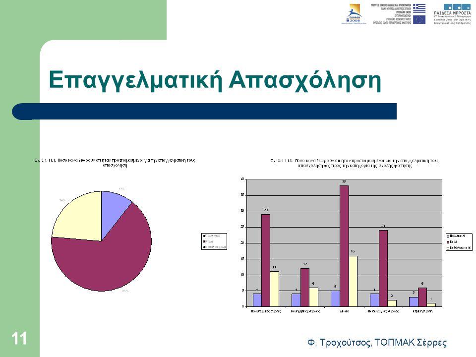 Φ. Τροχούτσος, ΤΟΠΜΑΚ Σέρρες 11 Επαγγελματική Απασχόληση