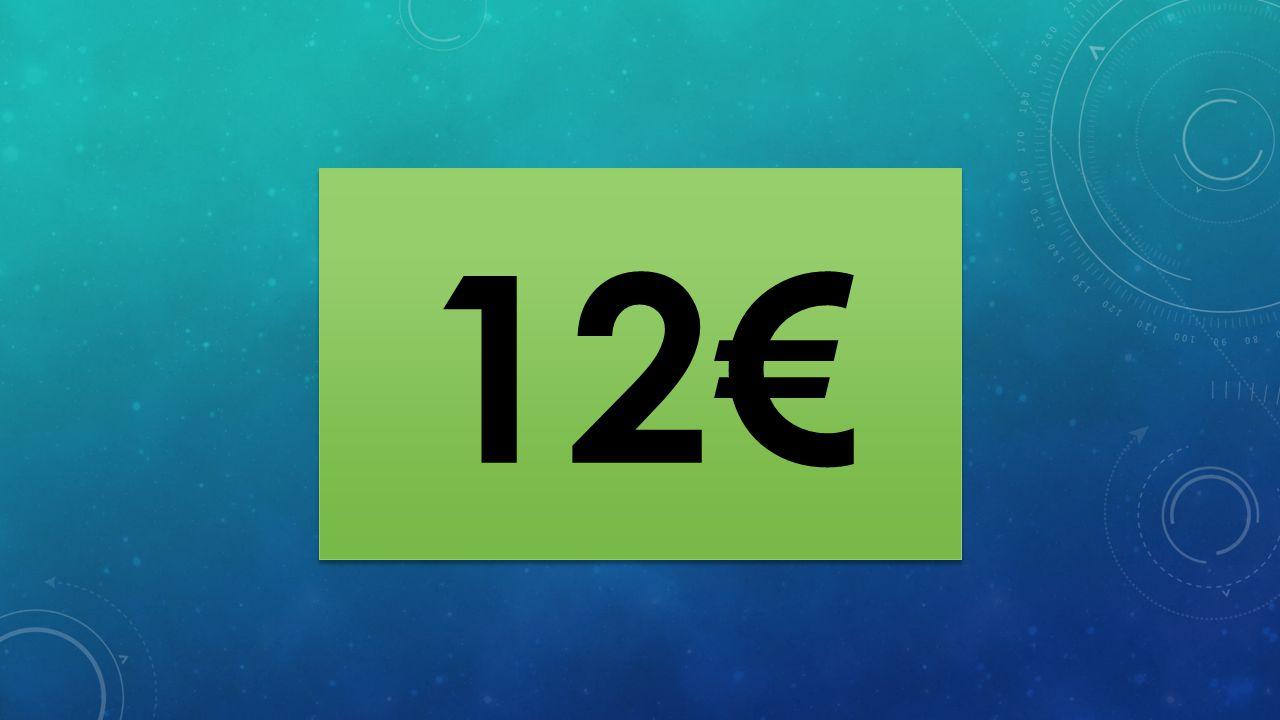 12 € 9 € 6 € 4 € 3 € 2 € 1 € 0,20 € 0,10 € Το 2013 η χώρα που είχε το μεγαλύτερο χρέος ως ποσοστό του Α.Ε.Π.