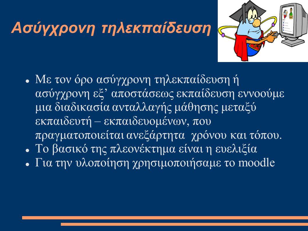 Τι είναι το moodle Eίναι ένα διαδικτυακό πρόγραμμα ανοιχτού/ελεύθερου λογισμικού για τη διαχείριση εκπαιδευτικού περιεχομένου.
