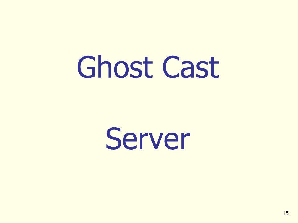 15 Ghost Cast Server