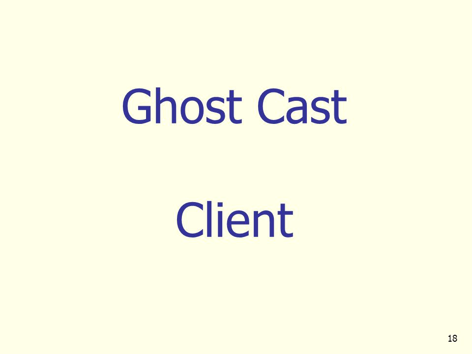 18 Ghost Cast Client